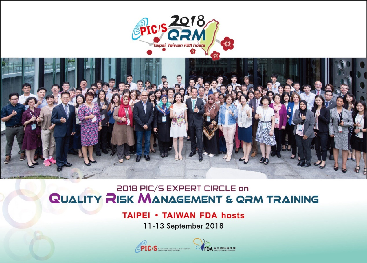 Group photo at the PIC/S Expert Circle Event on Quality Risk Management (QRM)