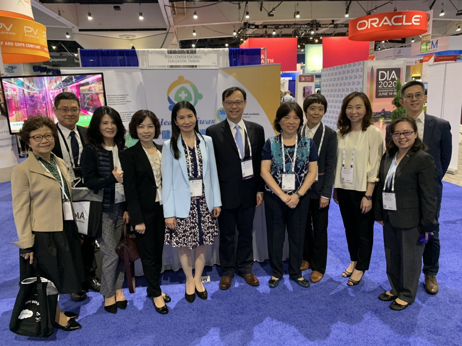 Exhibit booth Health Taiwan in 2019 DIA Annual Meeting